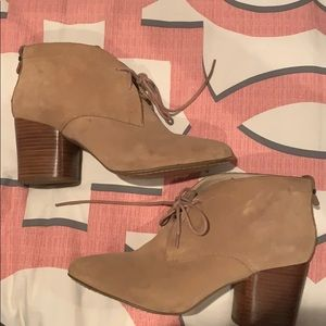 French Connection Tan Suede Booties